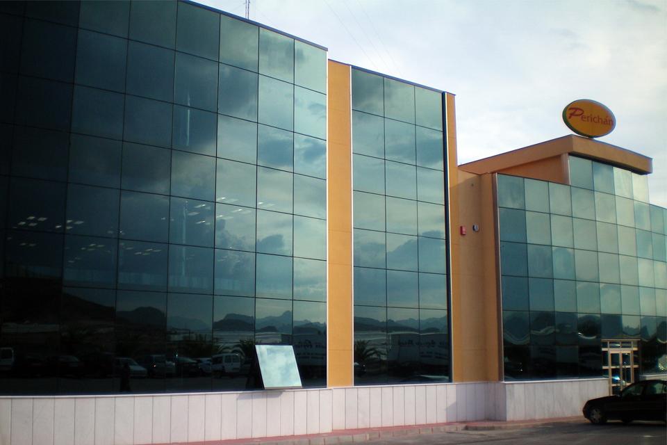 Ducha Mixta Gimnasio:Construcción edificio de oficinas de Perichan en Mazarrón, Murcia