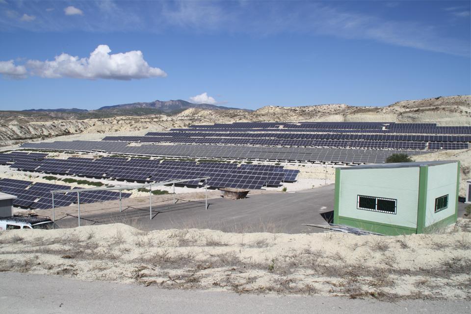 Construcción planta solar fotovoltaica en Campos del Río, Murcia