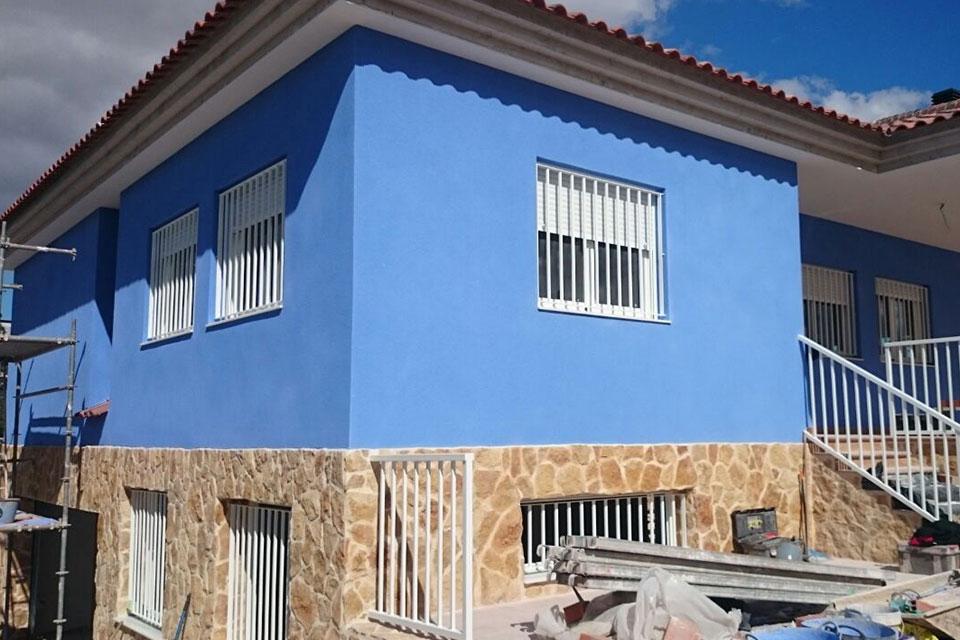 Reforma de exteriores chalet en murcia plumbingtecnology for Decoracion de chalets exteriores